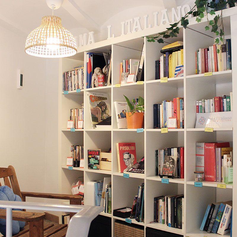 Biblioteca en italiano en Barcelona