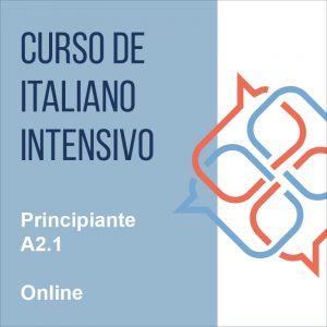 Curso italiano intensivo online Principiante A2.1
